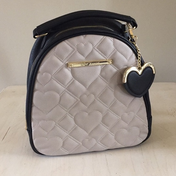 Betsey Johnson Bags   Quilted Heart Dome Backpack   Poshmark a856dfe224